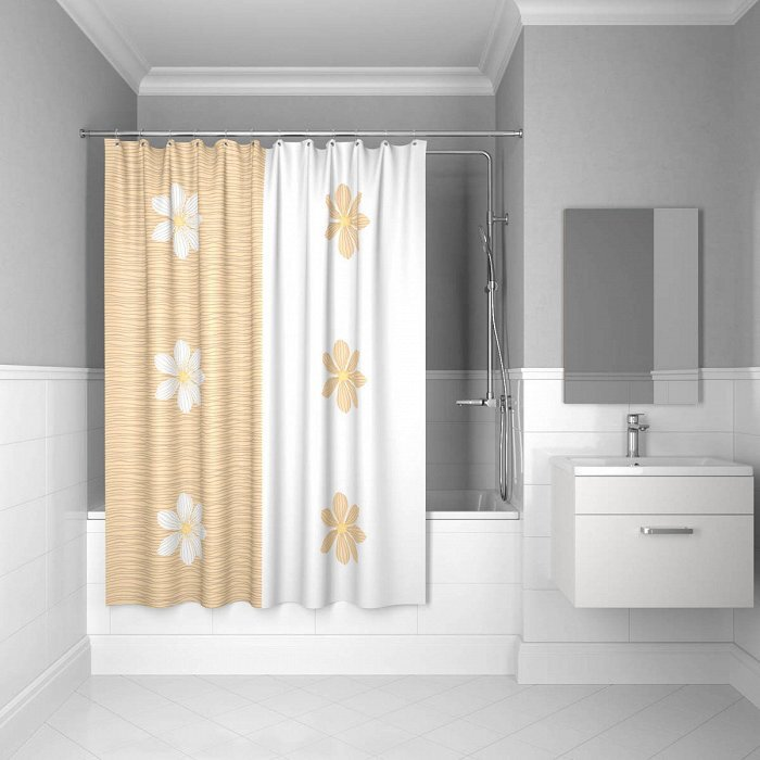 Штора для ванной комнаты, 200*180 см, SCID042P, paloma art, IDDIS штора для ванной комнаты из полиэстера iddis curved lines green 402p20ri11