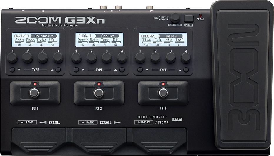 Мульти педаль эффектов для электрогитары Zoom G3Xn