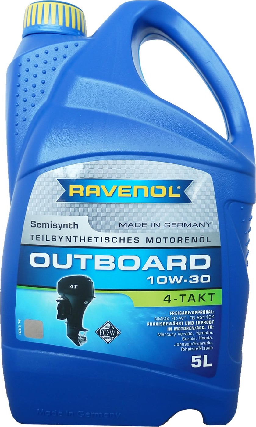 Моторное масло для 4-T лодочных моторов RAVENOL Outboardoel 4T SAE 10W-30 (5л)