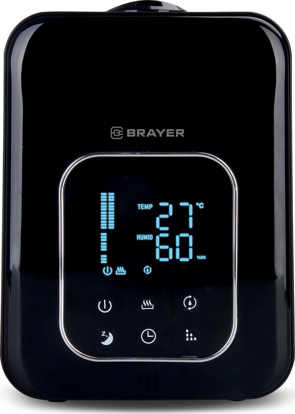 Ультразвуковой увлажнитель BRAYER, 4,5 л, 25 м,( 40-80%), таймер, дисплей, 15 ч.