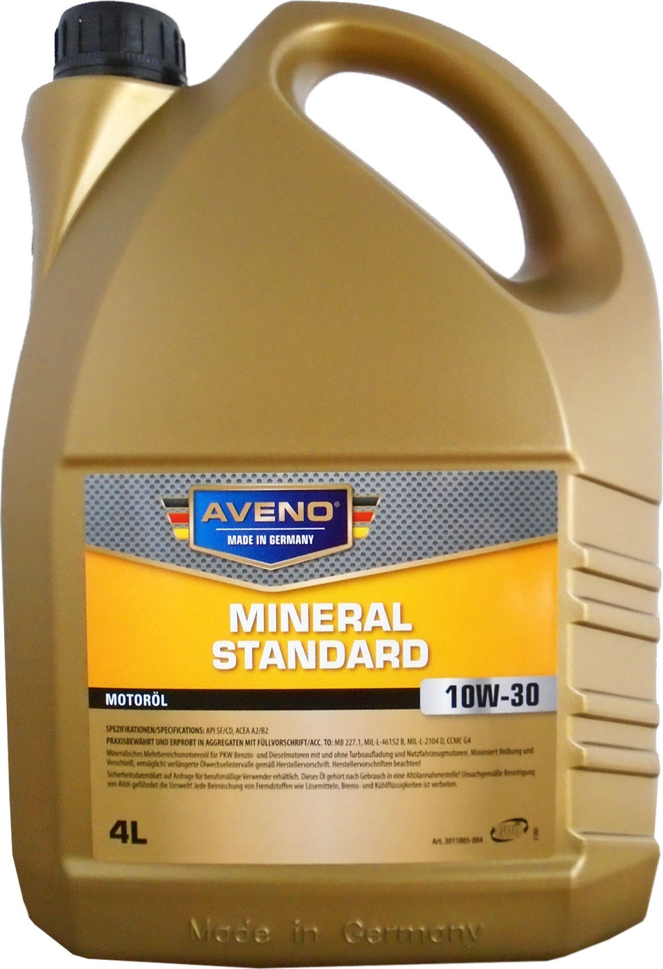 Моторное масло AVENO Mineral Standard SAE 10W-30 (4л)