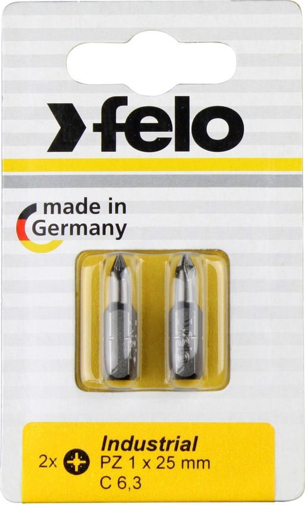 Бита для инструмента Felo Industrial, крестовая PZ 1х25 мм, FEL-02101036, 2 шт