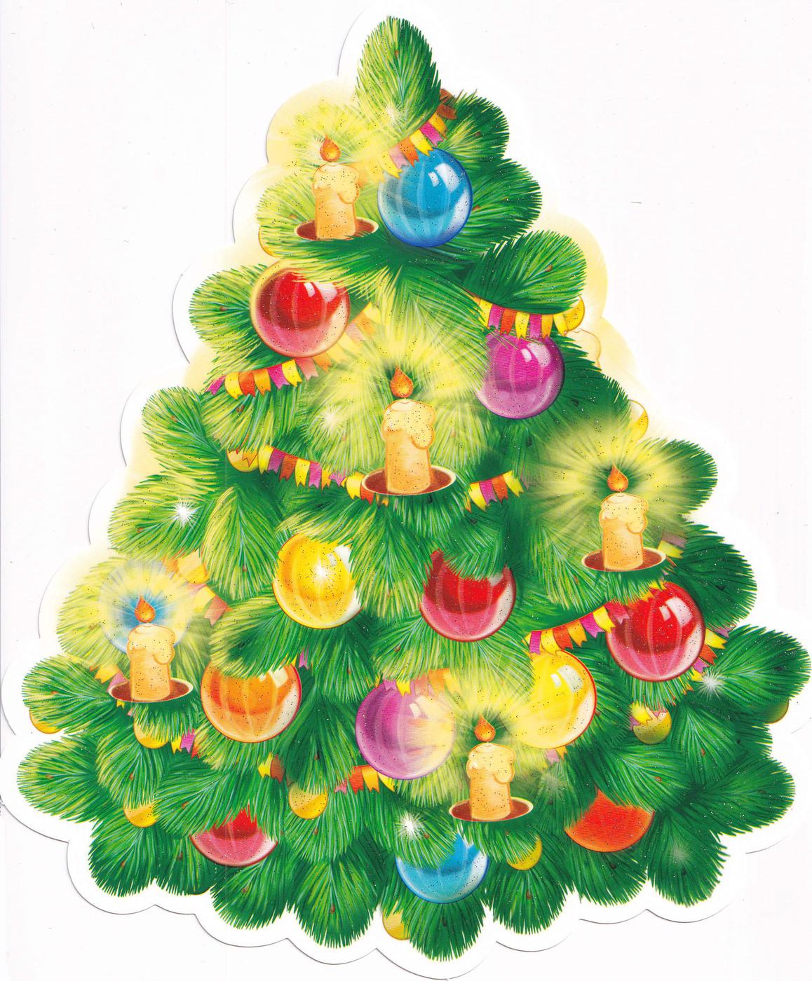 Постер с новогодними елками
