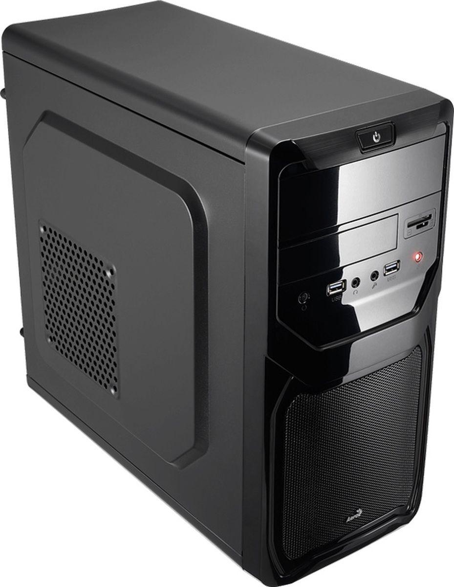 Корпус Mini Tower AeroCool Qs-183 Advance Black, SD\microCD картридер, без Б/п, mATX 4713105955460
