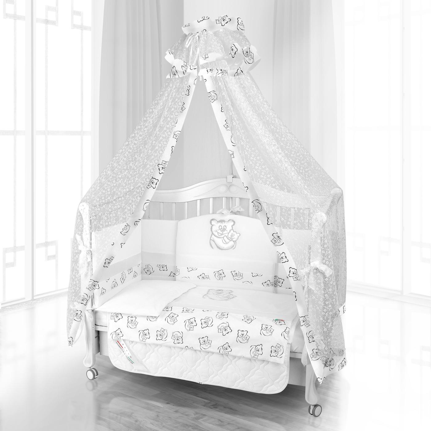 Комплект постельного белья Beatrice Bambini Unico Orso Mamma (125х65) - bianco& bianco