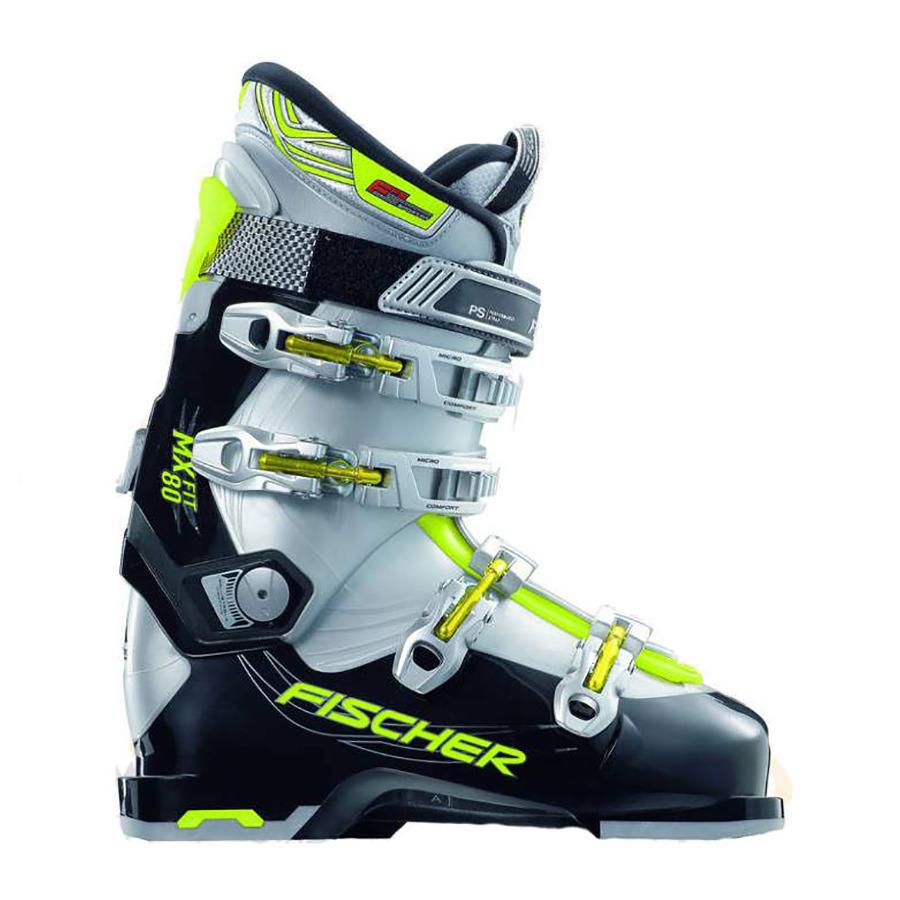 Ботинки горнолыжные Soma MX Fit 80 Черный/серебро/лайм, 27,5