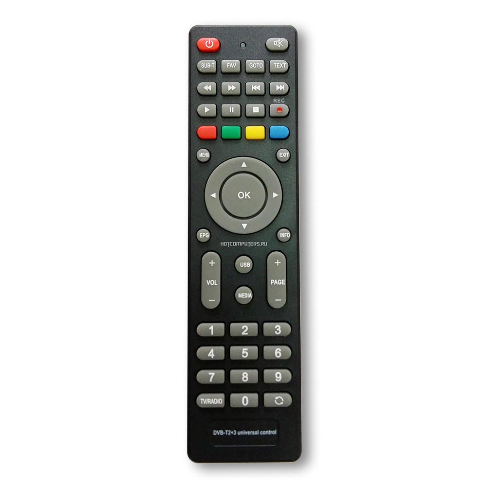 Пульт универсальный Huayu DVB-T2+3 для разных моделей  ТВ приставок