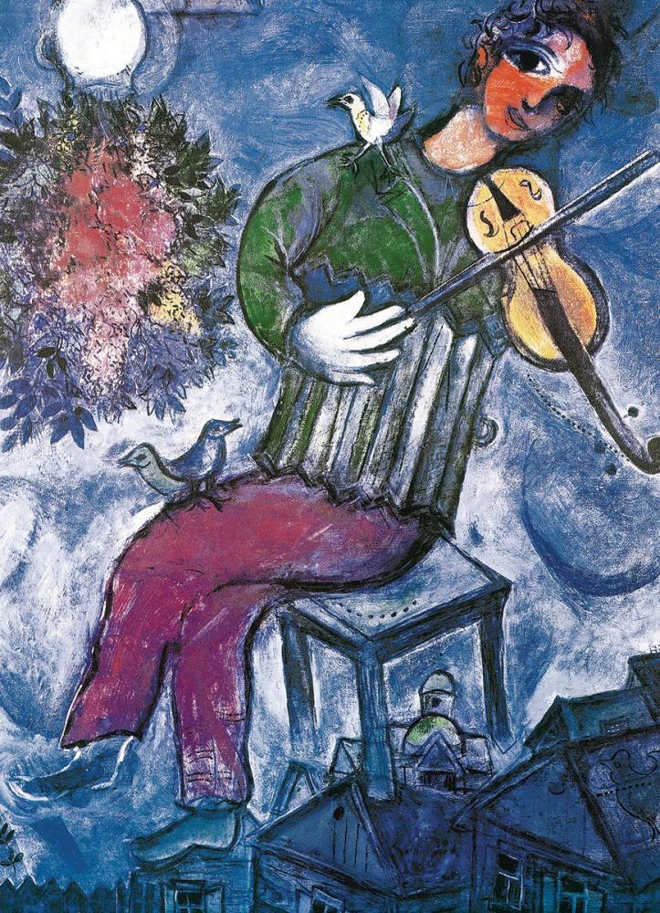 Пазл 1000 Eurographics: Синий скрипач (Марк Шагал)