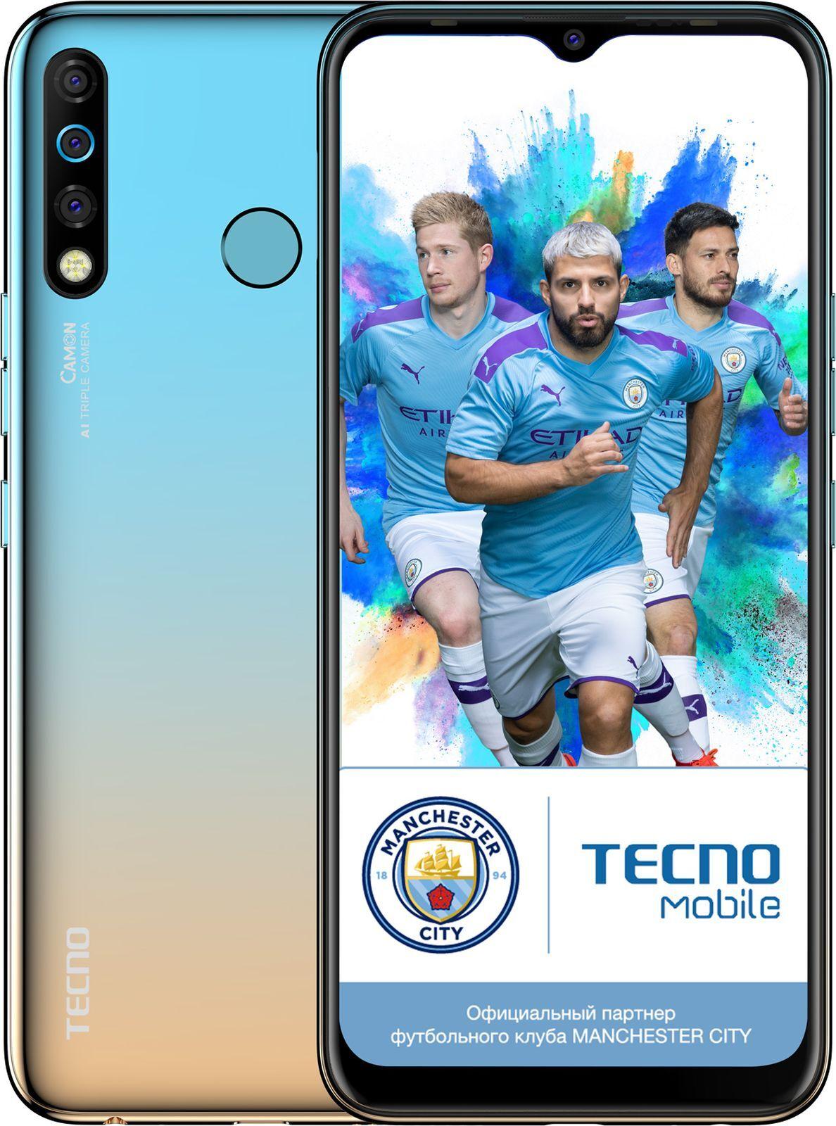 Смартфон Tecno Camon 12 3/64GB, голубой
