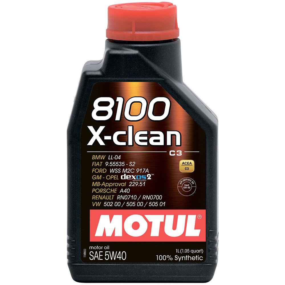 Масло моторное синтетическое Motul 8100 X-Clean 5W-40 (1л)