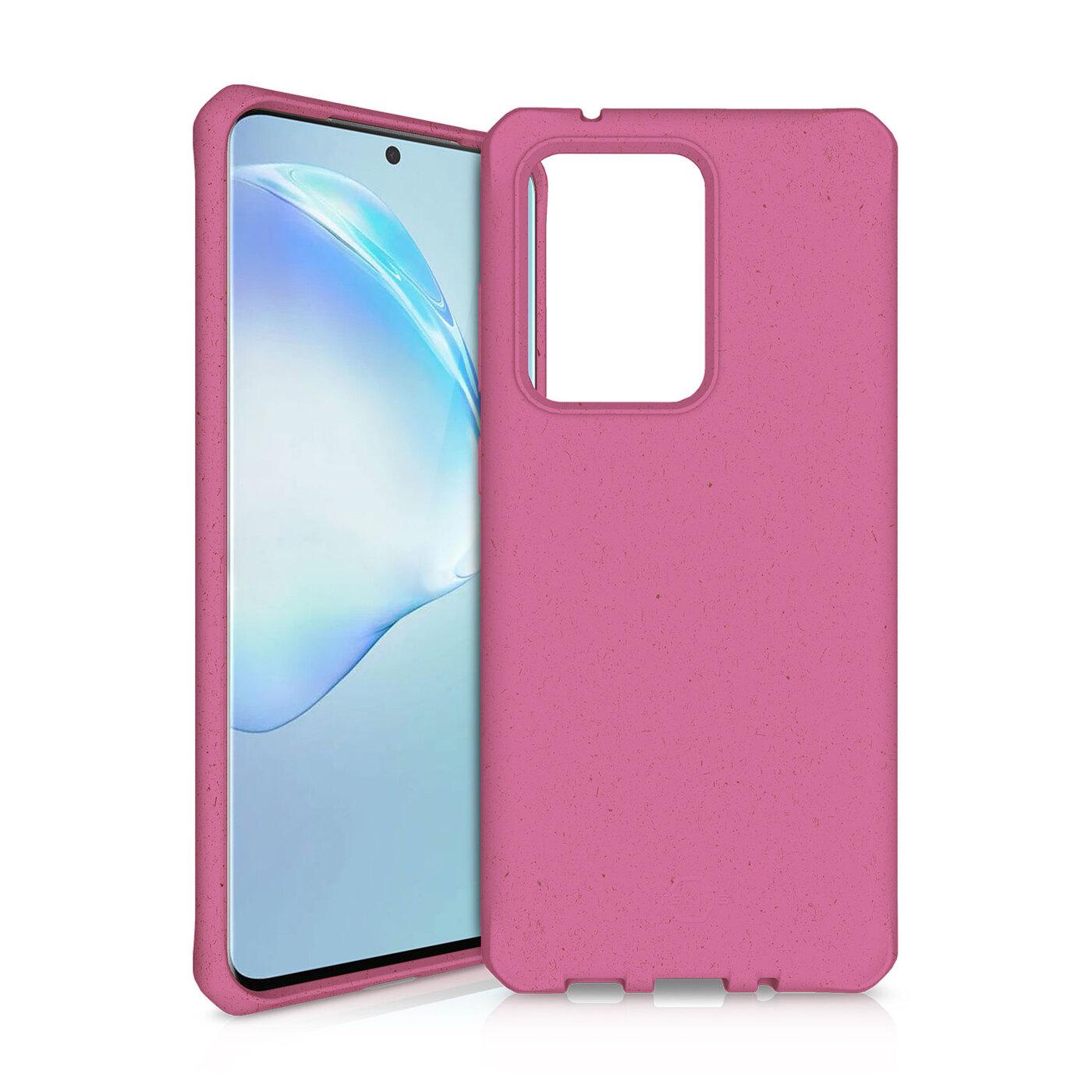 Чехол-накладка ITSKINS FERONIA BIO для Samsung Galaxy S20 Ultra, розовый