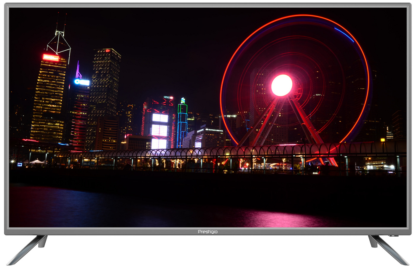 "HD Телевизор Prestigio LED LCD TV MATE 43 43"", серебристый"