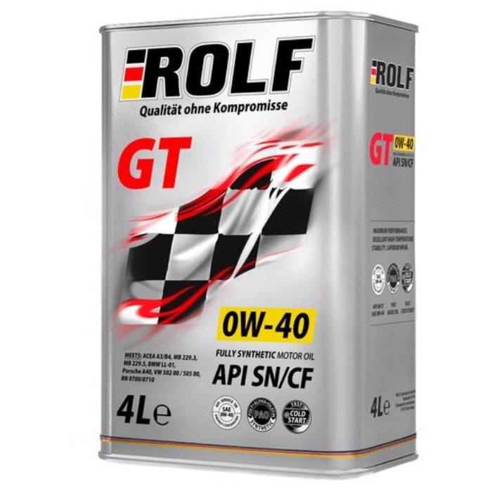 Моторное масло ROLF 0W-40 Синтетическое 4 л