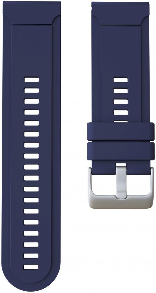 Ремешок силиконовый GSMIN Silicone для Garmin Fenix 3 / 3 HR / 3 Sapphire / Quatix 3 / 5X / 5X Plus / D2 Bravo / Tactix Bravo / Descent Mk1 (Синий)