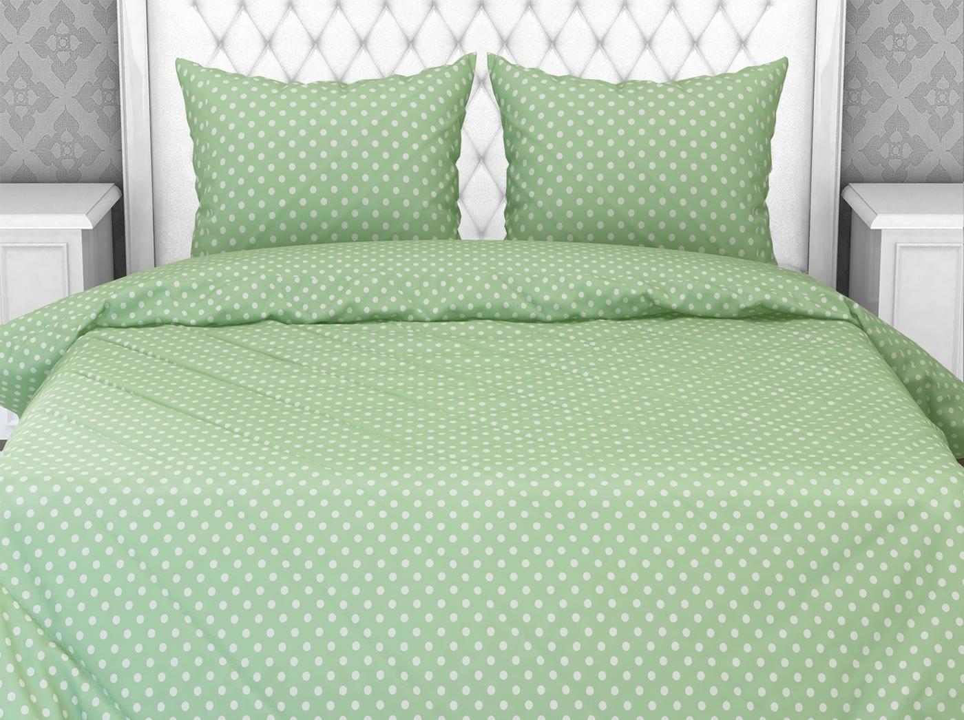 Комплект постельного белья Галтекс Горошек 1,5 спальный, Бязь, наволочки 70x70