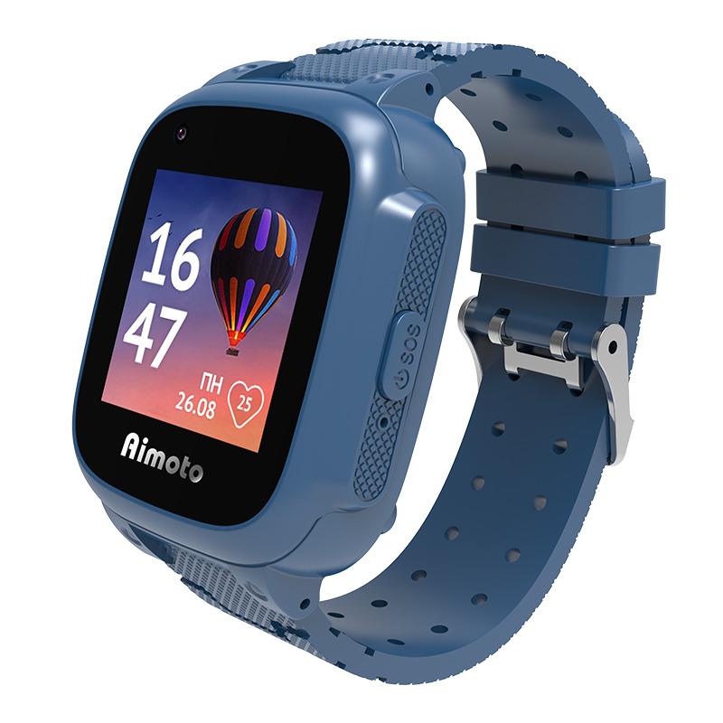 Умные часы для детей Aimoto Tempo 4G с измерением температуры и видеозвонком, синий