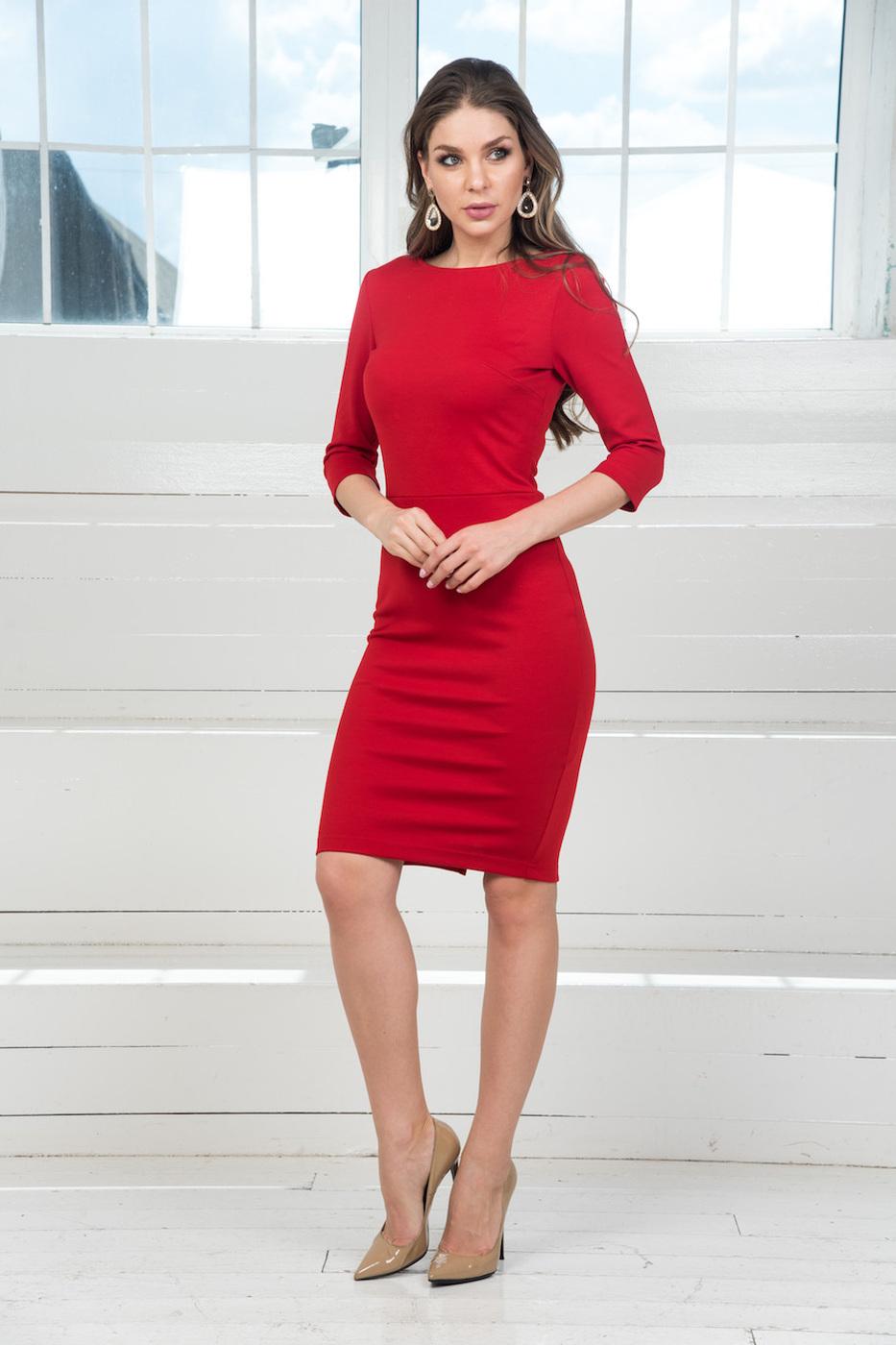 Красное Платье Повседневное