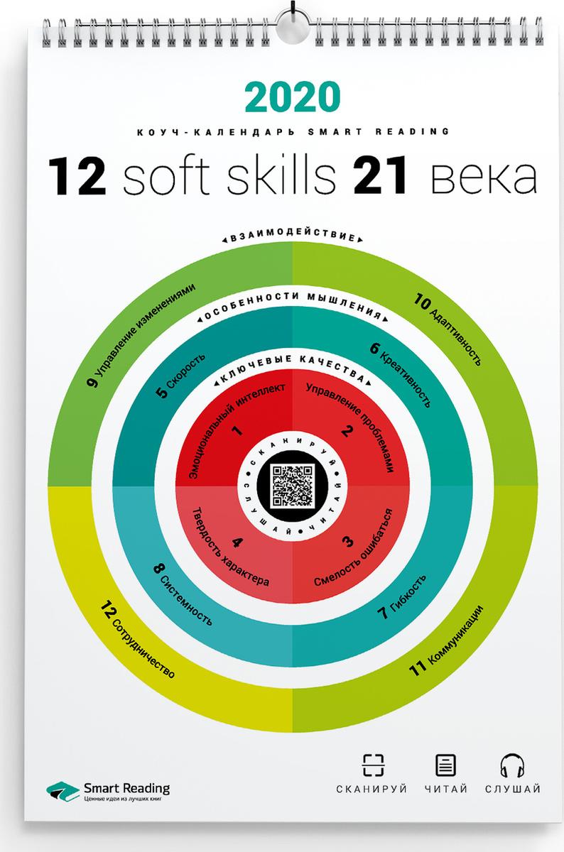 Календарь инфографик Smart Reading 2020 12 soft skills 21 века #1