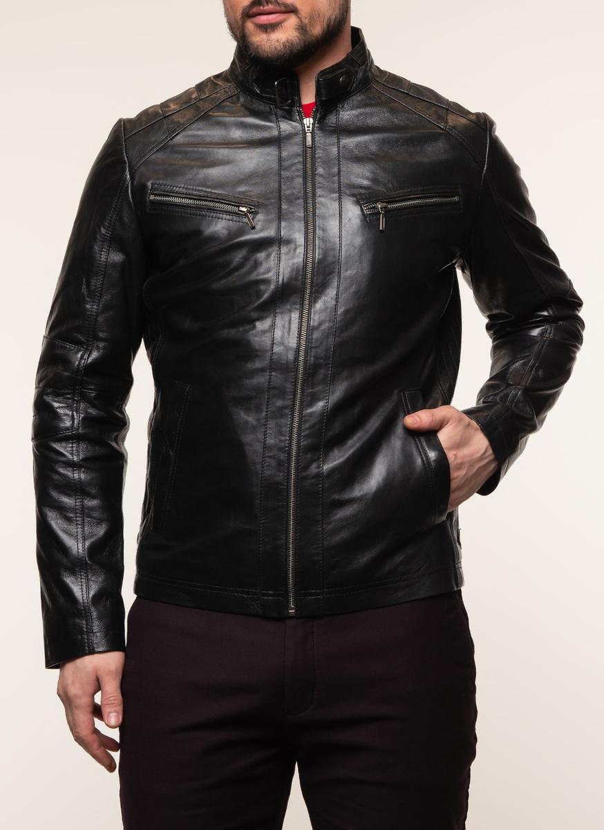 Кожаная куртка КАЛЯЕВ #1