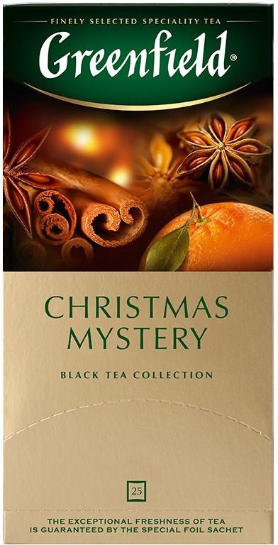 Черный чай в пакетиках Greenfield Christmas Mystery, 25 шт #1