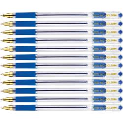 "Ручка шариковая MunHwa ""MC Gold"" синяя, 0,5 мм, грип, штрих-код"