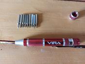 """Отвертка """"Vira"""", для точных работ, с набором бит #9, Лапоногов Владимир"""