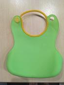 Слюнявчик детский, нагрудник для кормления ROXY-KIDS мягкий с кармашком и застежкой, цвет зеленый #14, Наталья А.