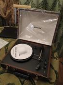 Проигрыватель виниловых дисков Crosley Executive Deluxe, коричневый, белый #4, Людмила Г.