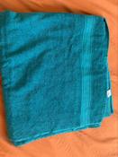 Полотенце банное махровое с бордюром 1080 Махровая ткань, 100x180 см, темно-зеленый #4, Арина Т.