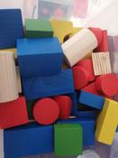 Деревянный конструктор Томик Цветной, игровой набор из 43 деталей #1, Анастасия