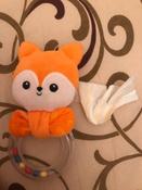 Игрушка для самых маленьких, погремушка-колечко, Лисичка Апельсинка, Мякиши #2, Анастасия Н.
