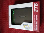 2 ТБ Внешний жесткий диск Transcend StoreJet 25M3S (TS2TSJ25M3S), светло-зеленый, темно-серый #10, Павел Т.
