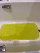 Коврик резиновый противоскользящий для ванной с отверстиями ROXY-KIDS 34,5х76 см, цвет салатовый #13, Александра Г.