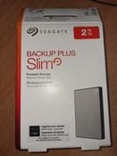 2 ТБ Внешний жесткий диск Seagate Backup Plus Slim (STHN2000401), серебристый #6, Ольга К.