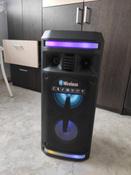 Музыкальный центр Ginzzu GM-208 с функцией Bluetooth v4.2, 50Вт, USB-flash, microSD, FM-радио, пульт ДУ, эквалайзер, КАРАОКЕ, динамическая LED подсветка динамиков #12, Юлия Р.