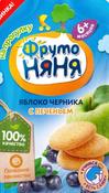 Фрутоняня пюре яблоко, черника печенье с 6 месяцев, 90 г #146, Юлия Т.