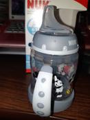 NUK FС+ ДИСНЕЙ Микки Маус обучающая бутылочка с силиконовой насадкой, 150 мл - черная #2, Ирина