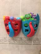 Органайзер-ковш детский для ванной для игрушек для купания DINO от ROXY-KIDS, цвет коралловый/синий #3, Ольга Н.