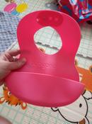 Нагрудник гибкий с кармашком 6 месяцев + розовый BabyOno #1, Марина С.