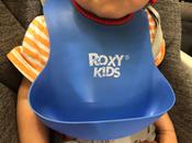 Слюнявчик детский, нагрудник для кормления ROXY-KIDS мягкий с кармашком и застежкой, цвет синий #6, Елена Крылова