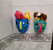 Органайзер-ковш детский для ванной для игрушек для купания DINO от ROXY-KIDS, цвет мятный/коралловый #2, Анна Х.