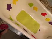 Коврик резиновый противоскользящий для ванной с отверстиями ROXY-KIDS 34,5х76 см, цвет салатовый #5, Анна Х.