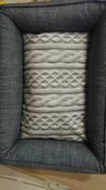 """Лежанка для животных """"Bedfor"""", со съемными чехлами, цвет: серый, 70 x 50 x 18 см #2, Ольга Р."""