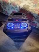 Музыкальный центр Ginzzu GM-208 с функцией Bluetooth v4.2, 50Вт, USB-flash, microSD, FM-радио, пульт ДУ, эквалайзер, КАРАОКЕ, динамическая LED подсветка динамиков #10, Денис Г.