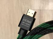 HDMI Кабель GCR для PS4 Xbox One 1.5м 4K 60Hz UHD 24К GOLD черный нейлон кабель HDMI 2.0 #4, Тренцов Никита Александрович