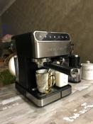 Кофеварка электрическая Рожковая Polaris PCM 1535E Adore Cappuccino, серебристый #9, Владислав Е.