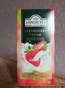Ahmad Tea Strawberry Cream черный чай в пакетиках, 25 шт #5, Марина С.
