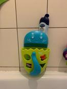 Органайзер-ковш детский для ванной для игрушек для купания DINO от ROXY-KIDS c полкой, цвет зеленый #15, Дарья В.