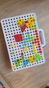 Конструктор для мальчиков и девочек/ Конструктор мозаика с шуруповёртом дрелью/ Мозаика для детей 198 деталей  #10, Марина Ч.