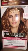 L'Oreal Paris Стойкая крем-краска для волос  Excellence, оттенок 6.32, Золотистый темно-русый #4, Елена Е.